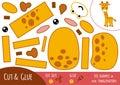 Education paper game for children, Giraffe