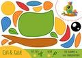 Education paper game for children, Parrot