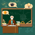 Education professor teacher students school boards classroom Royalty Free Stock Photo