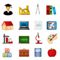 Education and school icon set Stock Photo