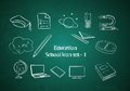 Education and School icon set Royalty Free Stock Photo
