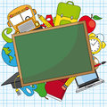Education school icon set space text Stock Images