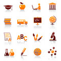 Education and school icons Royalty Free Stock Photos