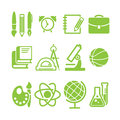 Education school symbol collection icon Stock Photography