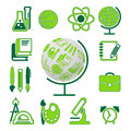 Education school symbol  collection Royalty Free Stock Photo