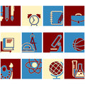Education school symbol vector collection Royalty Free Stock Photo