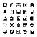 Education and School Vector Icons 2 Royalty Free Stock Photo