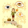 Education, schoolgirl, back to school Royalty Free Stock Photo