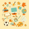 Education set icons in doodle style Royalty Free Stock Photo