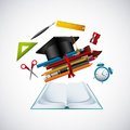 Education set supplies icons