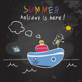 Education Summer vacation, children holiday