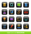 Education tablet buttons collection isolated white Stock Image