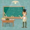 Education, teacher blackboard back to school Royalty Free Stock Photo