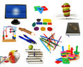 Education theme objects isolated Stock Image