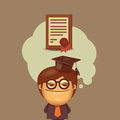 Education vector format authors illustration in Royalty Free Stock Image