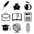 Education vector set icons of Royalty Free Stock Image