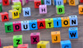 Education word on table
