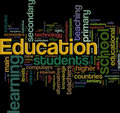 Education wordcloud Stock Image