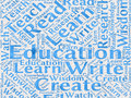 Education words background