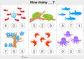 Education worksheet - Counting object for kids