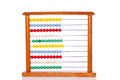 Educational colorful abacus on white background Royalty Free Stock Image