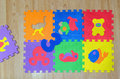 Educational foam puzzle playground for childs Royalty Free Stock Photo
