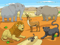 Educational game for children African savannah Royalty Free Stock Photo
