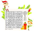 Educational game for children. Christmas Word search puzzle kids activity. new year theme learning vocabulary. Royalty Free Stock Photo