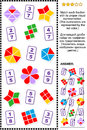 Educational math puzzle with fractions