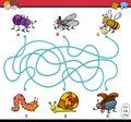 Educational maze task for kids