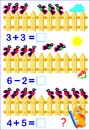 Educational page for children with exercises on subtraction. Need to solve examples and to write the answers.