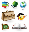 Educational Vector Elements Stock Images