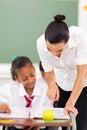 Educator tutoring student Royalty Free Stock Image