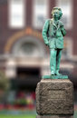 Edvard Grieg norwegian composer copper statue Royalty Free Stock Photo