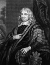 Edward hyde st earl of clarendon on engraving from english statesman historian and maternal grandfather two english monarchs Royalty Free Stock Photos