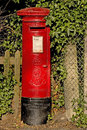 Edward vii post box red the seventh Royalty Free Stock Images