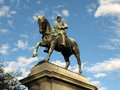 Edward VII Statue - Kings Domain, Australia Stock Photo