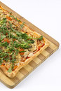 EDZR-Cheese, banana, onion and arugula Pizza Royalty Free Stock Image
