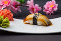 Eel sushi nigiri Royalty Free Stock Photo