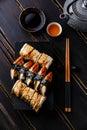 Eel Sushi Set nigiri and rolls Royalty Free Stock Photo