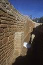 Een adobemuur in cliff canyon sun temple mesa verde co Royalty-vrije Stock Fotografie