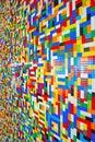 Een muurhoogtepunt van lego pieces Royalty-vrije Stock Afbeelding