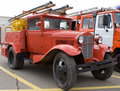 Eeuwenoude brandweerauto Stock Fotografie