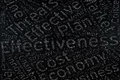 Effectiveness ,Word cloud art on blackboard