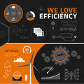 Efficiency infographic elements icons and symbols infographics for business reports presentations Stock Photo