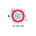 Efficiency Target Arrow Get Aim Business Concept Icon Vector Illustration