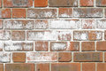 Efflorescence salts on surface of brick wall Royalty Free Stock Photos