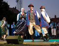 EGER - AUGUST 18: Traditional polish folk dance. Royalty Free Stock Images