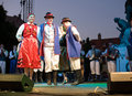 EGER - AUGUST 18: Traditional polish folk dance. Stock Image