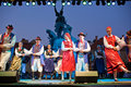EGER - AUGUST 18: Traditional polish folk dance. Stock Photo
